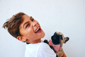 emotional support dog with young child