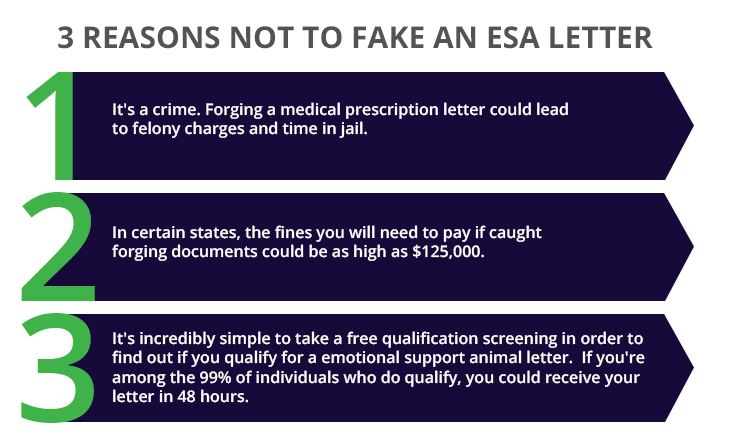 top 3 reasons not to face an ESA letter