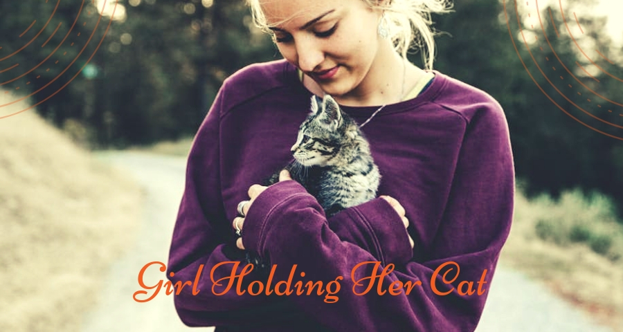 Girl Holding Her Cat