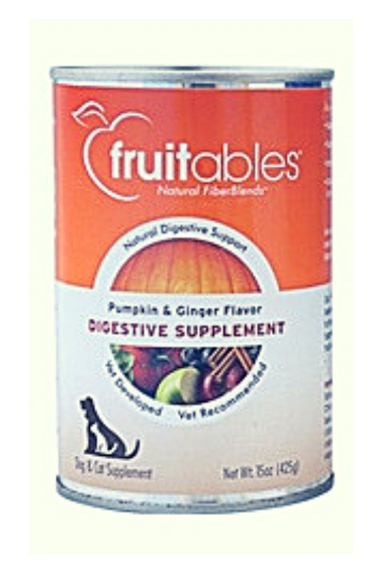 Fruitables Pumpkin Digestive Supplement For Dogs & Cats - 15 Oz. Can