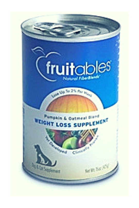Fruitables Pumpkin & Oatmeal Weight Loss Supplement For Dogs & Cats - 15oz. Can