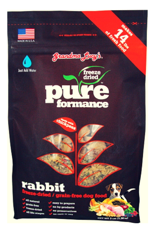 Grandma Lucys Dog Pure Grain Free Rabbit Chickpea 3 Lbs.