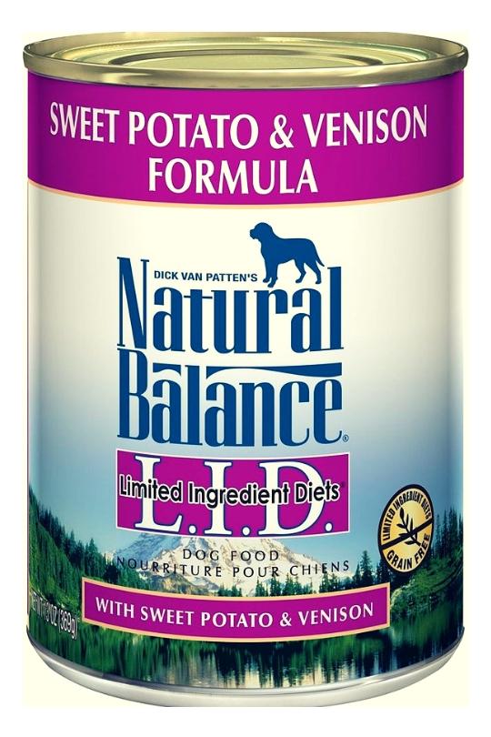 Natural Balance L.I.D. Sweet Potato & Venison Formula Canned Dog Food 13oz