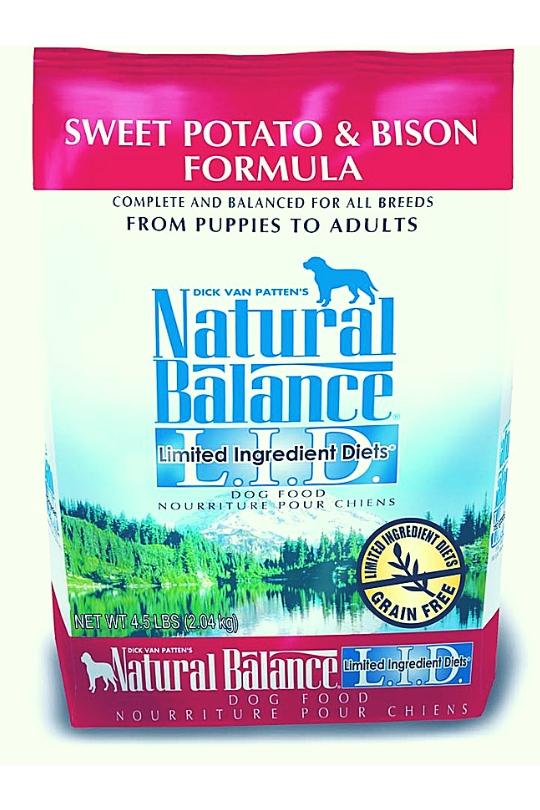 Natural Balance LID Sweet Potato & Bison Dry Dog Food 4.5 lbs