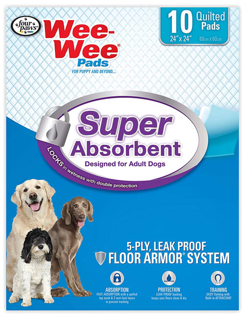 Four Paws Super Absorbent Wee Wee Pads