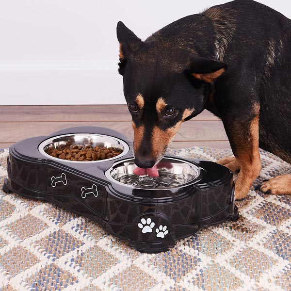 Loving Pets Dolce Double Diner Pet Dish