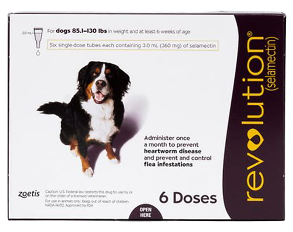 Revolution Topical Solution for Dogs, 86-130 lbs