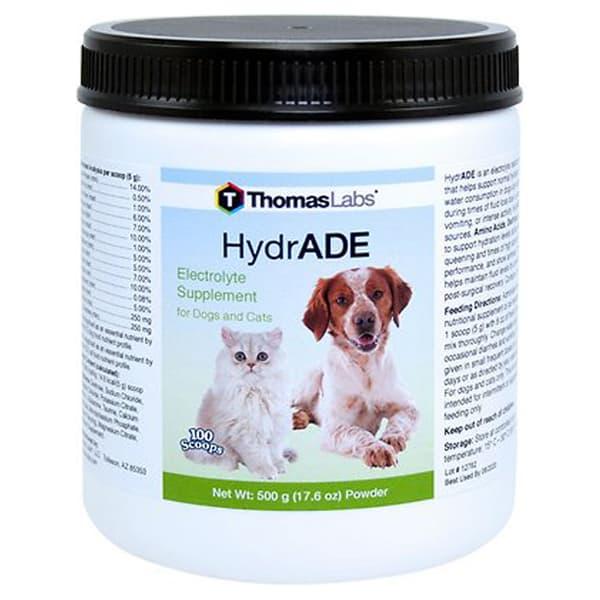 Thomas Labs HydrADE Electrolyte Powder Dog & Cat Supplement, 17.6-oz jar